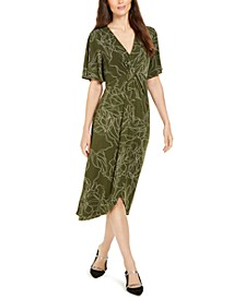 Printed Twist-Front Midi Dress, Created for Macy's