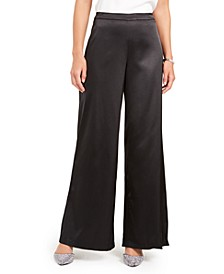 Wide-Leg Satin Pants, Created for Macy's