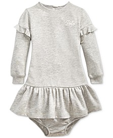 Baby Girls French Terry Ruffled Dress