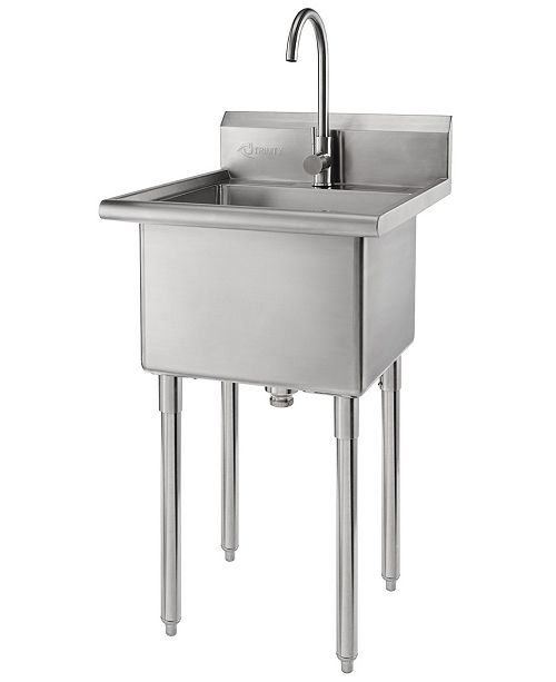 TRINITY Stainless Steel Utility Sink with Faucet