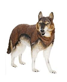 "Hansa 40"" Standing Timber Wolf Plush Toy"
