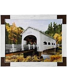 Backwoods Bridge Textured Framed Print
