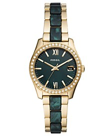 Women's Scarlette Mini Green & Gold-Tone Bracelet Watch 32mm