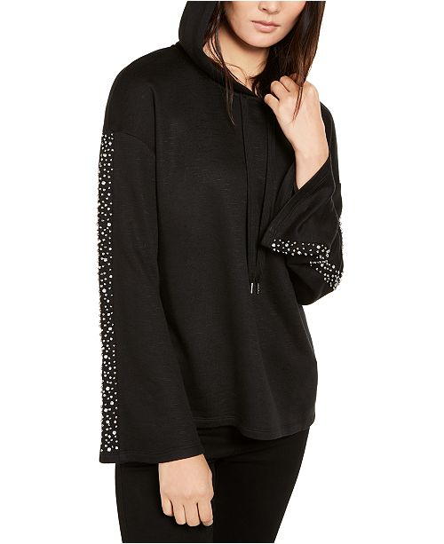 INC International Concepts INC Embellished-Sleeve Hoodie, Created for Macy's