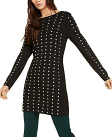 INC Petite Studded Tunic Sweater, Created for Macy's