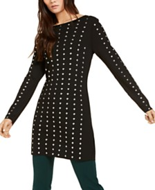 I.N.C. Studded Tunic Sweater, Created for Macy's