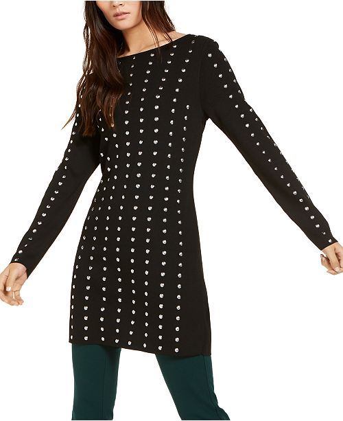 INC International Concepts INC Petite Studded Tunic Sweater, Created for Macy's