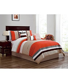 Luxlen Skiles 7 Piece Comforter Set, Queen