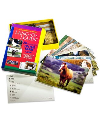 Stages Learning Materials Lang-o-Learn Esl Farm Photo Vocabulary Cards Flashcards