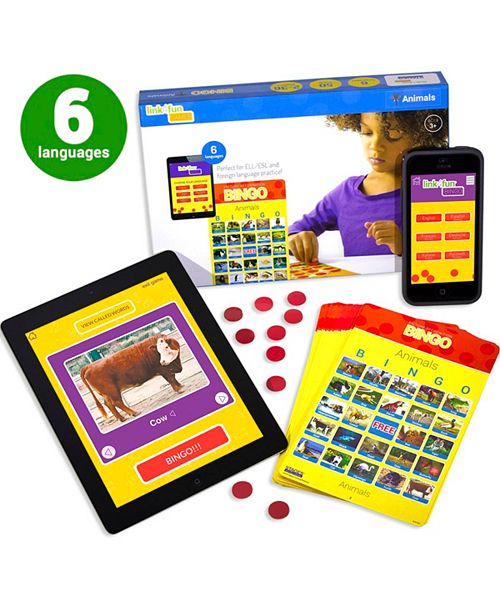 Stages Learning Materials Link4Fun Real Photo Animal Bingo Game