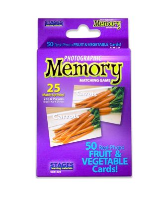 Stages Learning Materials - Picture Memory Card Game - Fruits Vegetables