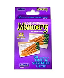 - Picture Memory Card Game - Fruits Vegetables