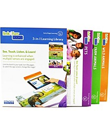 Linf4fun Master Pack of 3 Animal Interactive Board Book With Free iPad App