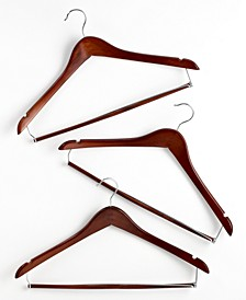 Suit Hangers, 6 Piece Set Contoured with Locking Bars