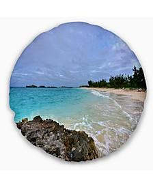 "Clearwater Beach Bermuda Oversized Beach Throw Pillow - 16"" Round"