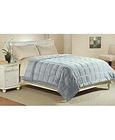Microfiber Reversible Blanket Soft Plush to Satin Cool, Queen