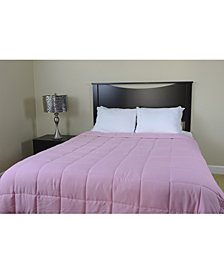 Luxlen Microfiber Reversible Blanket Soft Plush to Satin Cool, Queen