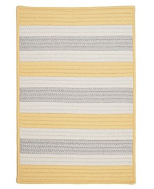 Stripe It Yellow Shimmer 2' x 4' Accent Rug