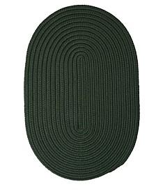 Boca Raton Dark Green 2' x 4' Accent Rug