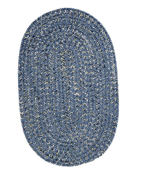 Colonial Mills West Bay Blue Tweed 2' x 4' Accent Rug
