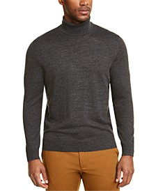 Men's Merino Wool Blend Turtleneck Sweater, Created for Macy's