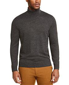 Club Room Men's Merino Wool Blend Turtleneck, Created for Macy's