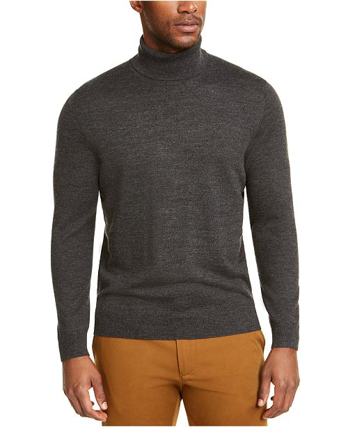 Club Room Men's Merino Wool Turtleneck, Created for Macy's