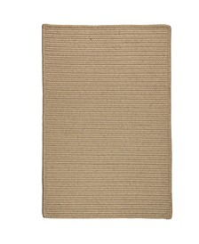 Sunbrella Solid Wheat 2' x 3' Accent Rug