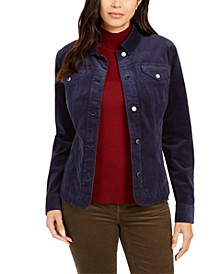 Corduroy Button-Down Jacket, Created for Macy's