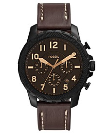 Men's Chronograph Bowman Brown Leather Strap Watch 46mm