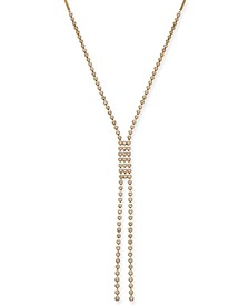 """INC Gold-Tone Crystal Lariat Necklace, 26"""" + 3"""" extender, Created For Macy's"""