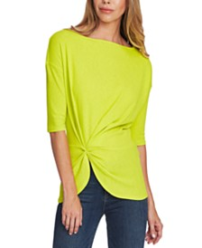 Vince Camuto Side-Cinched Asymmetrical Top