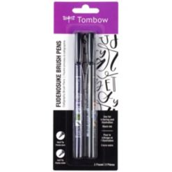 Tombow Fudenosuke Brush Pen, 2-Pack