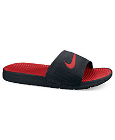 Nike Men's Benassi Solarsoft Slides Sandals from Finish Line