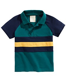 First Impressions Baby Boys Cotton Colorblocked Polo Shirt, Created for Macy's