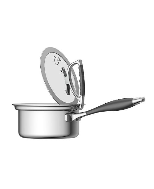 CookCraft by Candace 1.5 Quart Sauce Pan with Glass Latch Lid