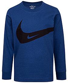 Nike Little Boys Swoosh-Print Cotton T-Shirt