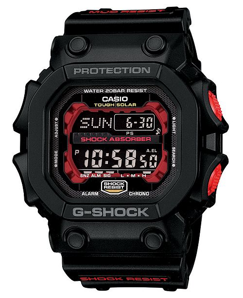 G-Shock LIMITED EDITION Solar Digital Black Resin Strap Watch 53.6mm, Created For Macy's
