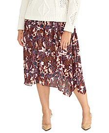 Trendy Plus Size Printed A-Line Skirt