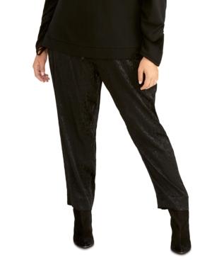 Rachel Rachel Roy Trendy Plus Shelle Leopard-Print Paperbag Pants