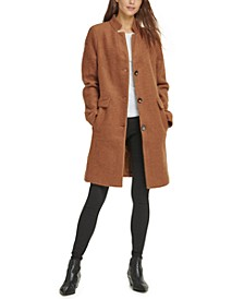 Petite Stand-Collar Coat, Created For Macy's
