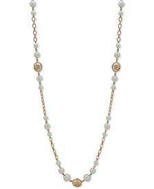 "Gold-Tone & Tortoise-Look Crest 42"" Strand Necklace"