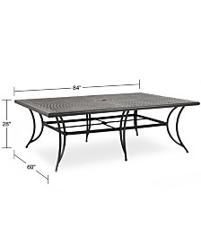 """Cast Aluminum 84"""" x 60"""" Outdoor Dining Table, Created for Macy's"""