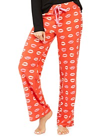 Printed Fleece Pajama Pants, Created For Macy's