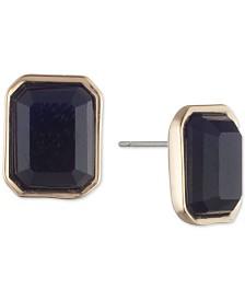 Lauren Ralph Lauren Gold-Tone Jet Stud Earrings