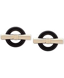 Lauren Ralph Lauren Two-Tone Circle & Bar Stud Earrings