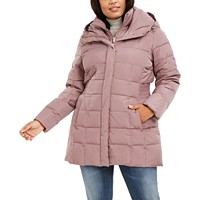 Deals on Cole Haan Plus Size Hooded Down Puffer Coat