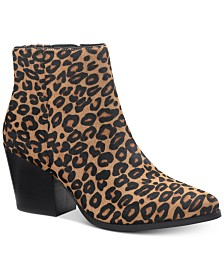 American Rag Eryn Calf Hair Booties, Created For Macy's
