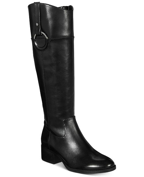 Alfani Women's Bexleyy Riding Leather Boots , Created for Macy's