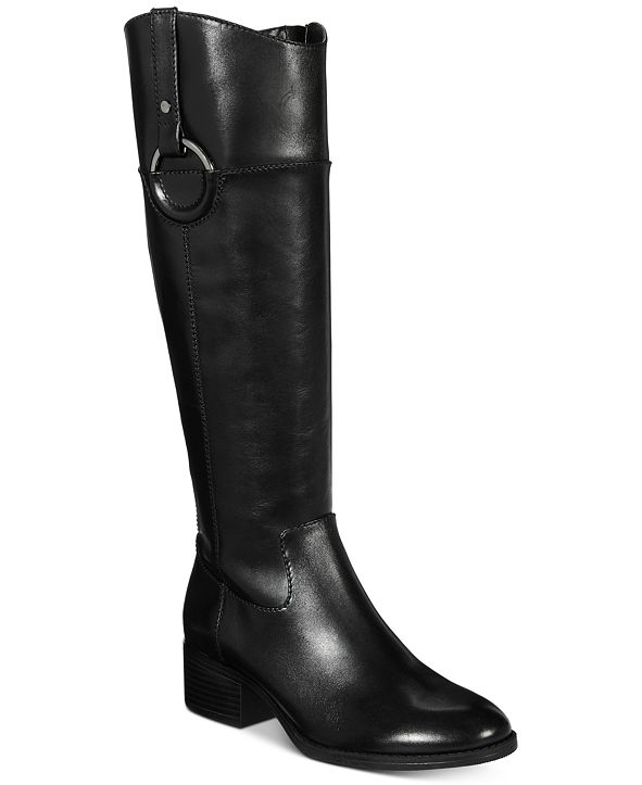 Alfani Women's Bexleyy Riding Leather Boots, Created for Macy's